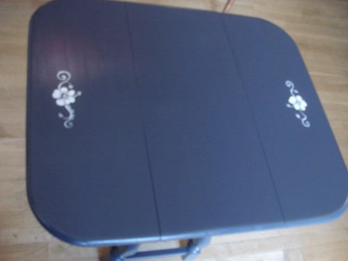 charcoal drop leaf table top
