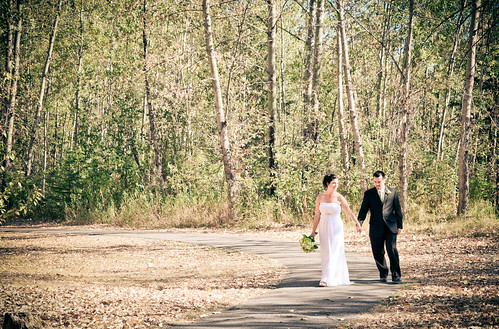 Path to the river, Cottonwood Island Park, Prince George Wedding Photos
