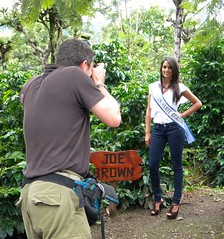 Joe Brown and Miss Guatemala Universe