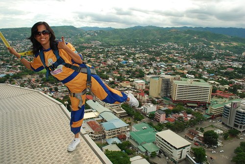 One Foot Stand at the Sky Walk Extreme Platform