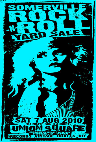 Somerville Rock And Roll Yard Sale August 7th 2010 Poster By Uncle