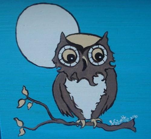 Owl Nightstand detail