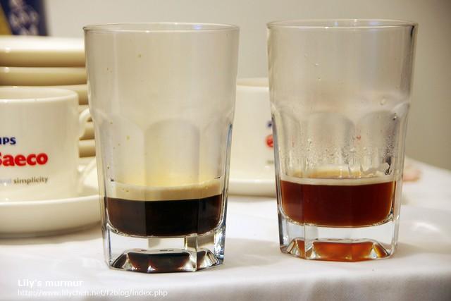 可設定咖啡濃淡以及咖啡精華乳的厚度,是不是有很明顯的差別呢?同一台機器煮的喔!