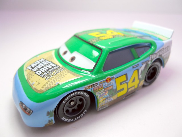 DISNEY CARS KMART COLLECTOR DAY 5  FAUX WHEEL DRIVE (2)