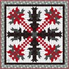 Fire Dragons - Christmas Cactus alternate colorway by Sandi Walton at Piecemeal Quilts