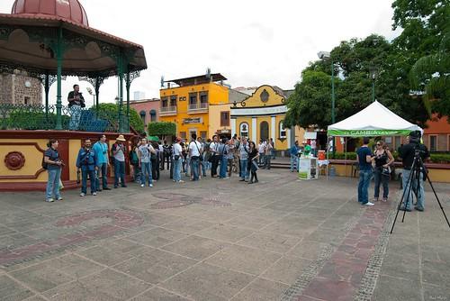 Previa a la foto grupal de los participantes
