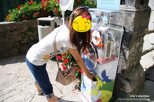 城堡前面的紀念幣販賣機,要價1.20歐,就有個紀念幣!