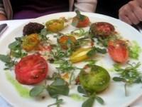 Heirloom Tomatoes, Stone Fruit and Vegetable Salad