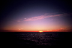Darkness beckons over Lake Michigan