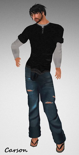 MHOH4 # 65 - JLZ Designs Henley Shirt and Jeans