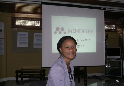 Katarlah Taylor Trainer in the Mendeley Session_Oct. 18, from Flickr, used by permission