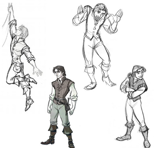 Art Of Tangled Scans Pt 1 Flynn Designs Related