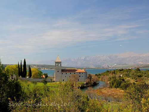 Monastery of Karin Donji with Velebit in the backround