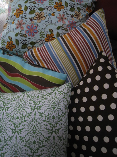 wide array of pillows