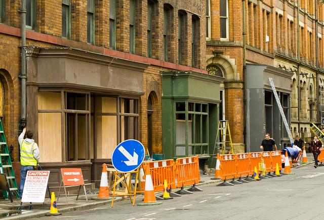 Captain America set building on Dale Street
