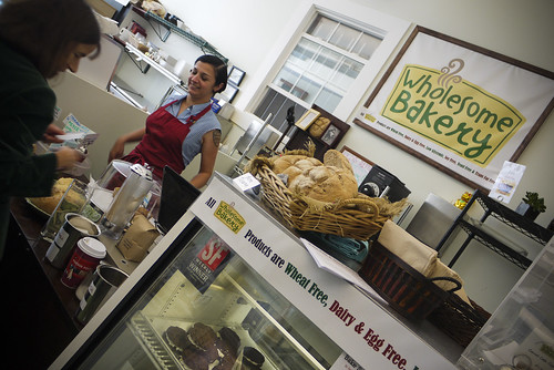 A woman after my own heart, the super-friendly owner of Wholesome Bakery is also into motorcycle rider, -heart!!