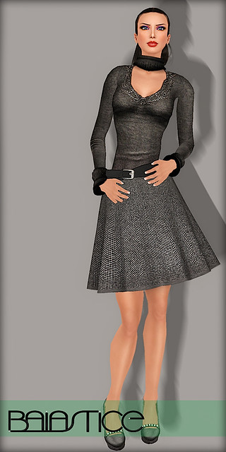 Baiastice Mary Fall Pull & Tweed Sculpted Skirt