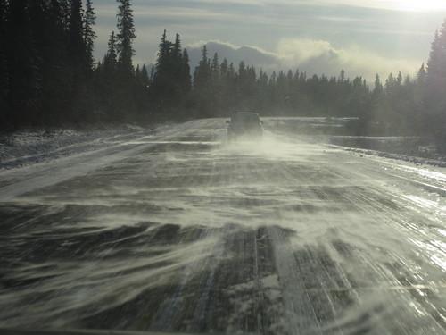 Swirly wintery road
