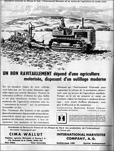 The 1940s Ad For Cima Wallut International Harvester Company