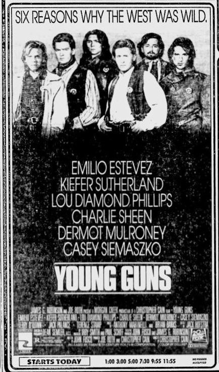 Young Guns movie ad