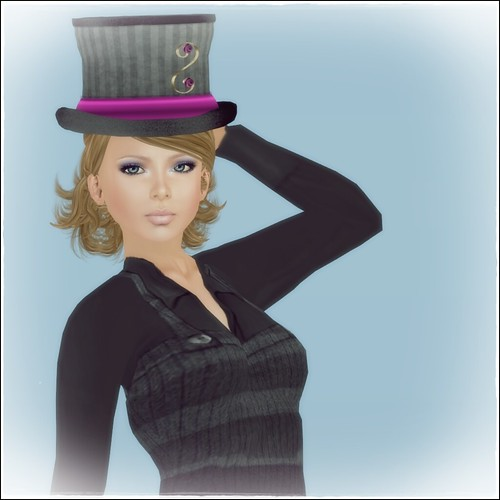 Hatpins - Lady Isolde Grey and Pink - Sixty Linden Weekend