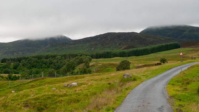 The road into Glen Banchor