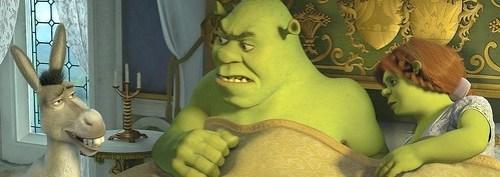Shrek in bed