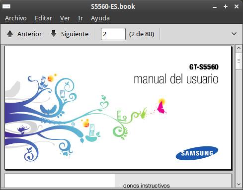 Manual Samsung Tocco S5560 en español