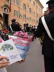 Giornata Mondiale Alzheimer - Fanfara dei Carabinieri in piazza S.Lorenzo in Lucina