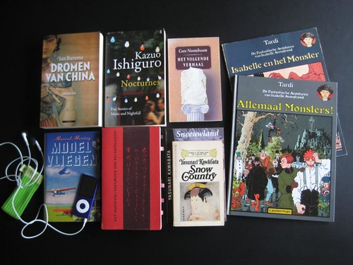 My pile of books for the 24 hour readathon in October 2010