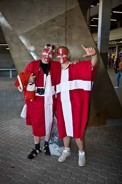 Dejected Danish fans