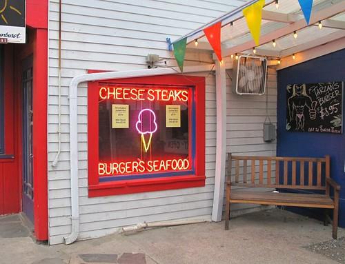 neon cheese steaks