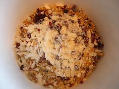 granola bars in process