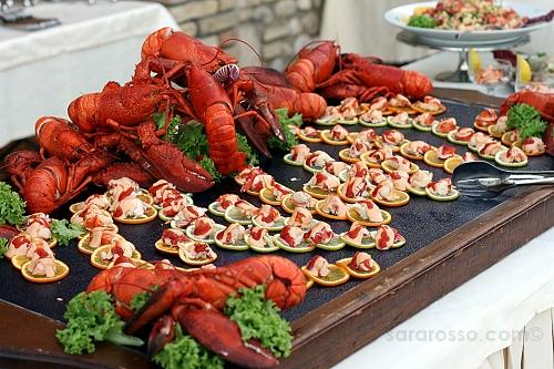 Lobster, aragosta at an Italian wedding