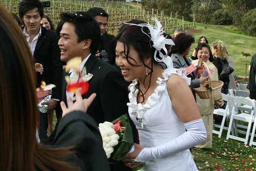 Quentin's wedding - man and wife