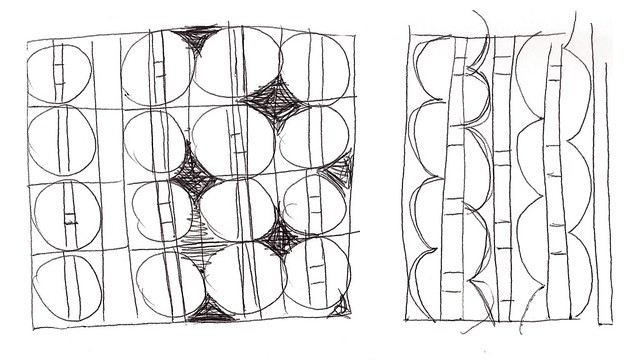 Quilt Pattern Sketches ~ Vintage Wooden Buttons