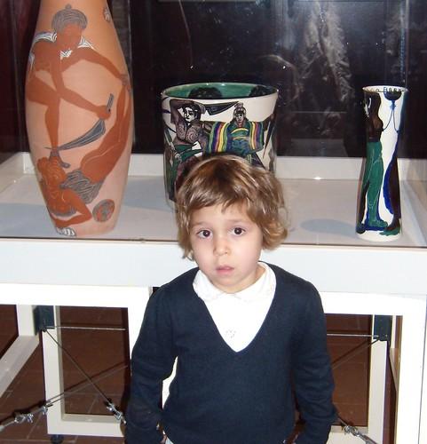 Livia alla mostra di Tono Zancanaro