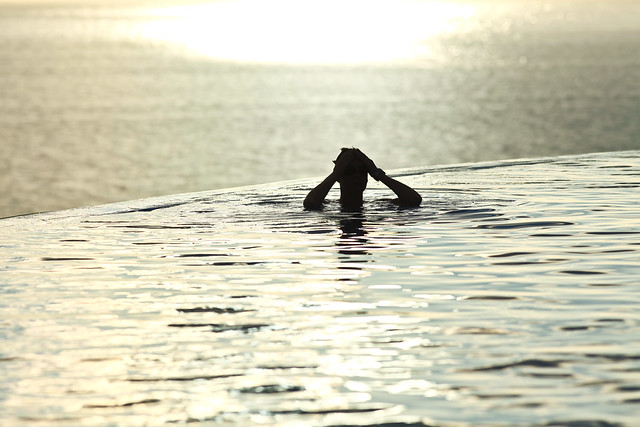 Late afternoon swim