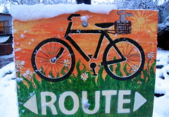 Bike Route Snowed In