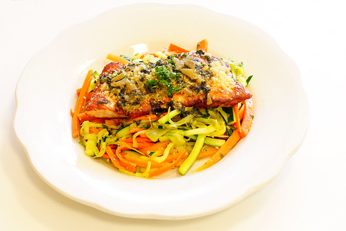 Couscous Crusted Salmon