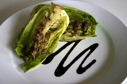 Grilled Romaine with Balsamic Syrup