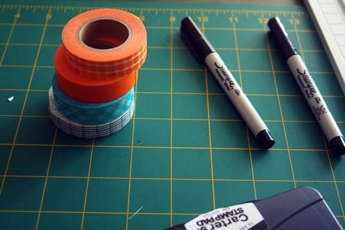 craft supplies that are also orange? double plus bonus!