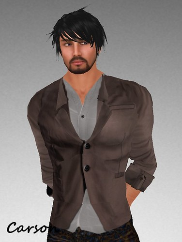 MHOH4 # 128 - [SEDesignz] Brown Blazer and Grey Shirt
