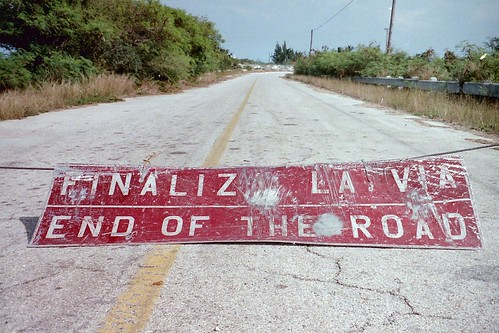 End of the road in Cuba