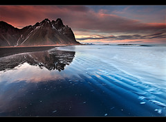 Rippled Reflection - Vestrahorn, Iceland by orvaratli