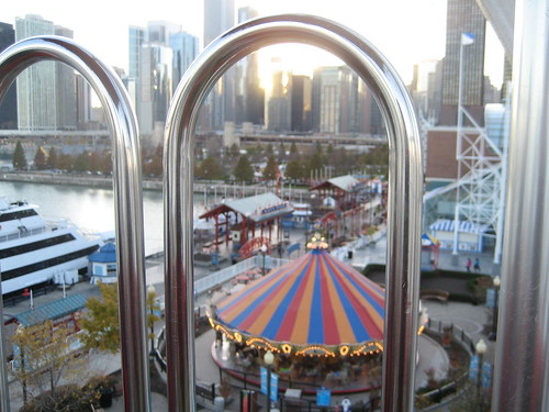 View from the top of the ferris wheel.