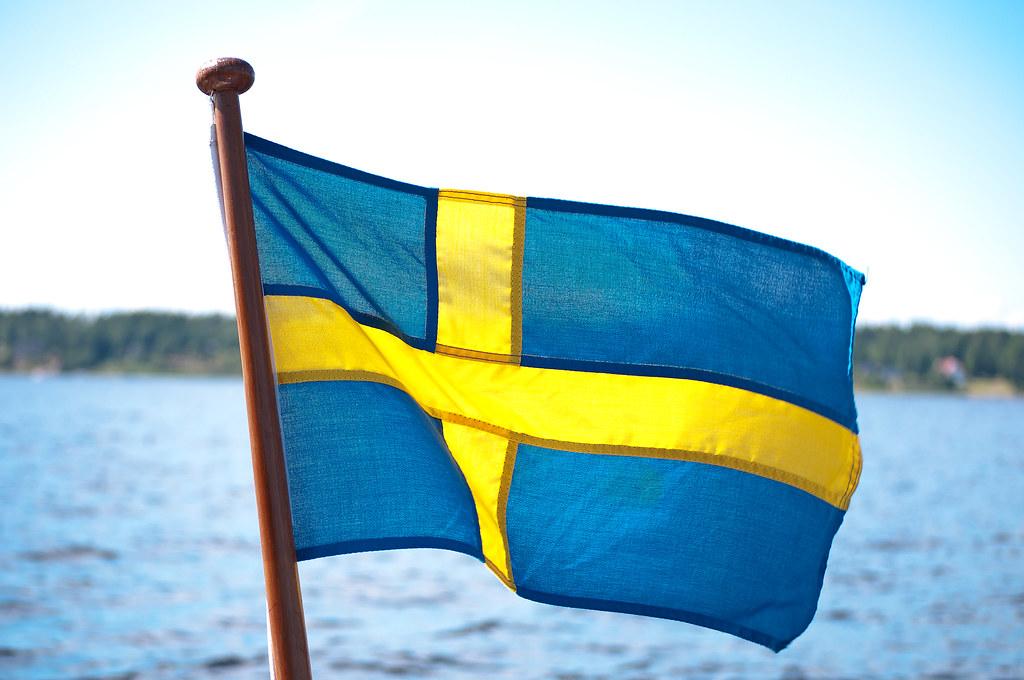 Swedish flag on my boat