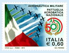 FRANCOBOLLO 50 PAN  frecce tricolori