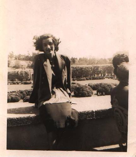 Mom at Longwood Gardens-1948
