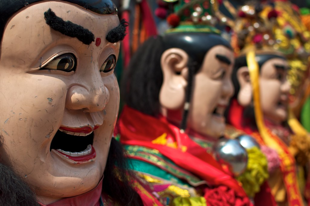Mazu Festival: Dajia Mazu Temple, Taichung Gods Lined Up